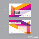 Business cards Design with abstract colorful banding shape background