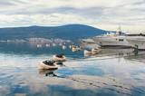 Mooring in the port of Tivat city.  Montenegro
