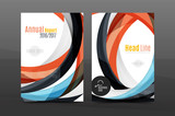 Colorful swirl design annual report cover template