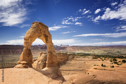 obraz lub plakat Delicate arch sand stone at Arches National Park, Utah, USA