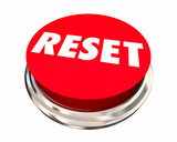 Reset Start Over Fresh Change New Beginning Button 3d Illustrati