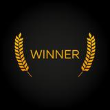 Winner. Laurel. Film Awards Winners. Film awards logo. Cinema. Vector illustration.