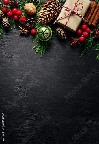 Christmas or New Year background Poster