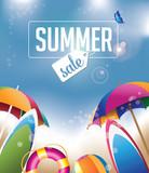 Fototapety Summer sale design. EPS 10 vector.