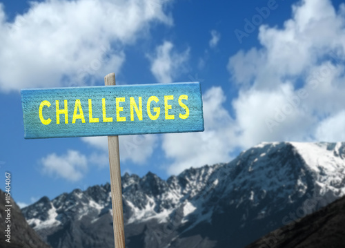 Challenges Sign Photo by jaykoppelman