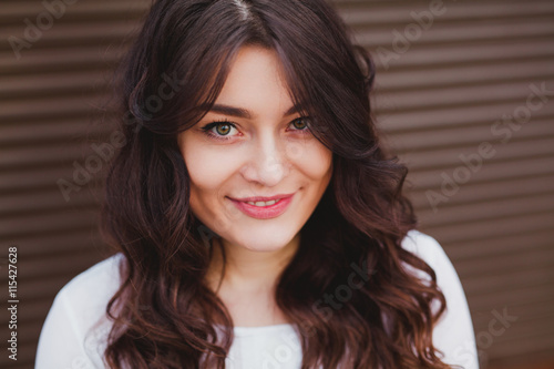 obraz lub plakat beautiful young girl with a clean fresh face close up