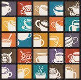 Vector icon collection Coffee and Tea cup