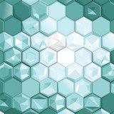 Abstract hexagon pattern background. Geometric concept design. B