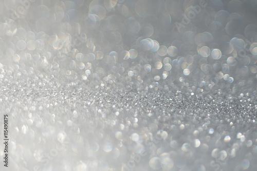 Grey Glitter Texture Macro Plakát