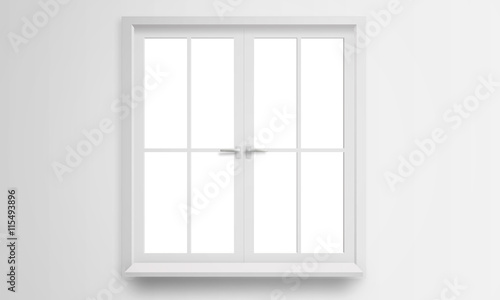 Modern window isolated - 115493896