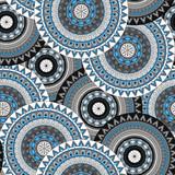 Hand drawn mandala ethnic seamless pattern.