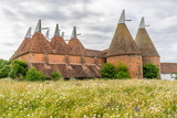 Oast houses in the Weald Kent in the south east of England