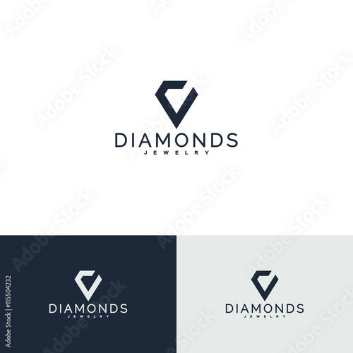 Kryształ, diament. Symbol biżuterii