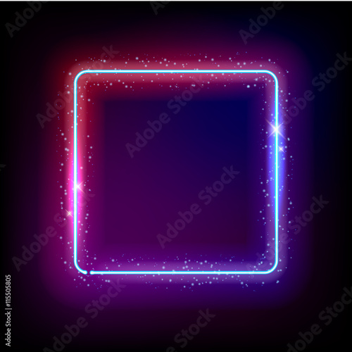 Neon background abstract vector illustration.