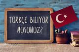 Fototapety question do you speak Turkish? written in Turkish