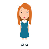 School student colorful cartoon, vector illustration graphic design.
