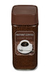 Leinwandbild Motiv Instantkaffee löslicher Instant Kaffee Granulat Glas
