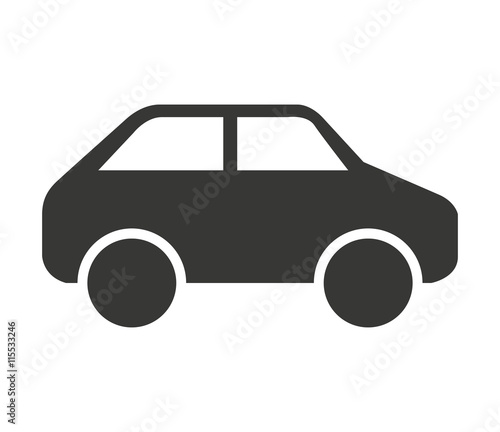 Wall mural car vehicle isolated icon design