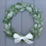 Snow Covered Christmas Wreath