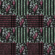 Abstract elegance patchwork seamless pattern with red glicinia f