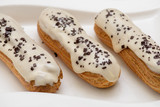 Eclairs with icing custard