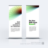 Vector set of modern Roll Up Banner Stand Design with soft shape