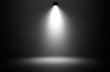 Fototapety White spotlight design background.
