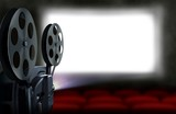 Cinema projector with empty seats - 115580046