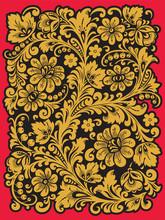 Folk Khokhloma. Ornement dans le style de la tradition nationale russe