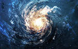 Incredibly beautiful spiral galaxy somewhere in deep space. Elements furnished by NASA