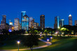A view of downtown Houston USA at night