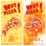 Two vertical orientation flyers for pizzeria.