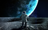 Astronaut in outer space. Spacewalk. Elements of this image furnished by NASA - Fine Art prints