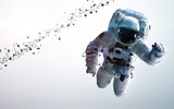Fototapety Astronaut in outer space. Spacewalk. Elements of this image furnished by NASA