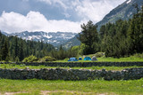 Tents during summer in Pirin mountain (Bulgaria) - 115608284