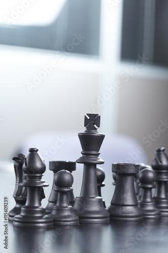 Poster black chess