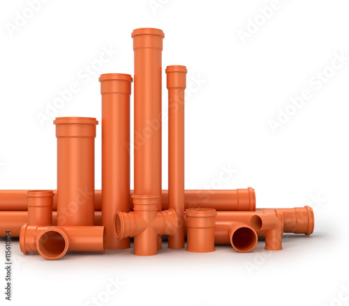 Plastic pipe on white background water for White plastic water pipe