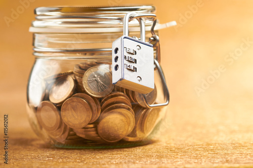 jar with coins Poster