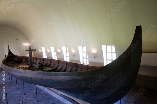 viking boats in the oslo museum Poster