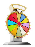 Wheel of fortune. 3D illustration - 115627897