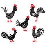 set of rooster