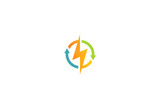 light bolt electric vector logo