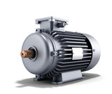 electric motor generator 3d illustration on a white background - 115653056