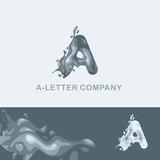 Креативный логотип для компании: жидкая буква А