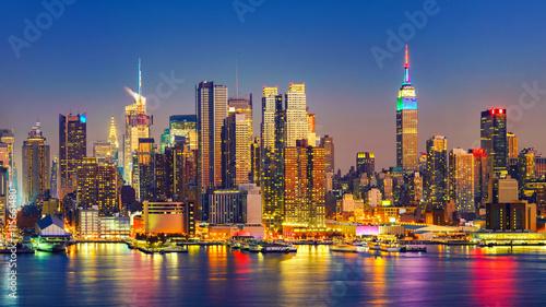 Fototapeta View on Manhattan at night, New York, USA