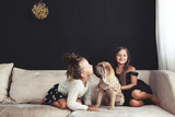 Fototapety Children with pet