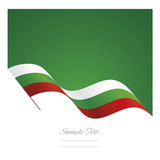 Bulgaria abstract wave flag ribbon vector background