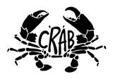 black crab, vector