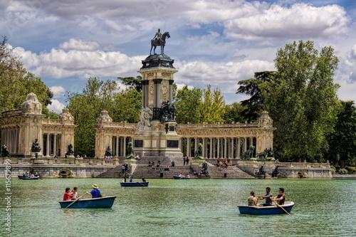 Fotobehang Madrid Madrid, Retiro-Park
