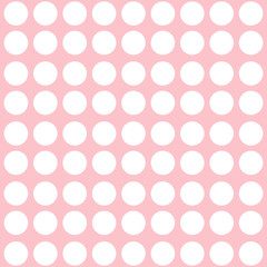 Pink abstract pattern with dots.